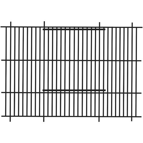 Barred Finch Cage Front (51 x 30cm) (Black)