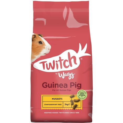 Wagg Twitch Guinea Pig Crunch Food (2kg) (Brown)