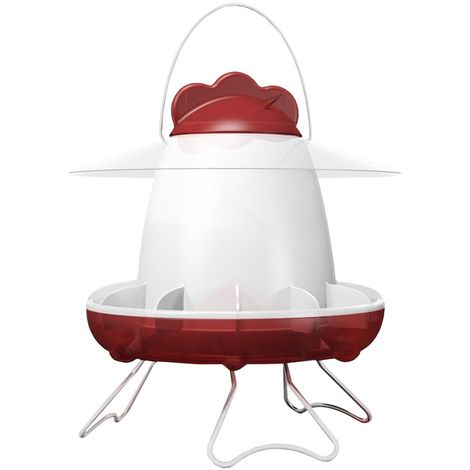 Feathers & Beaky Chicken Feeder (One Size) (Red/White)