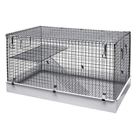 Lazy Bones Single Storey Small Animal Metal Cage (One Size) (May Vary)