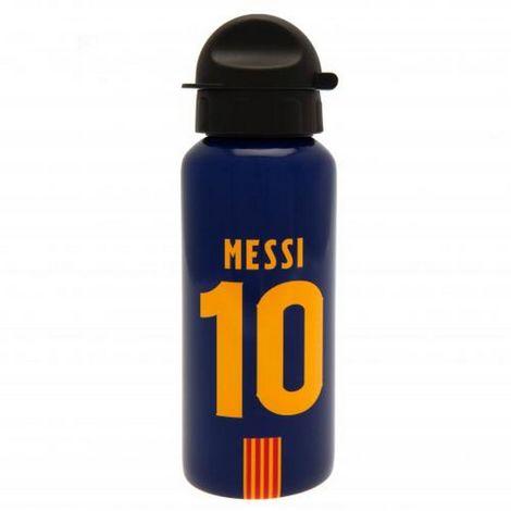 FC Barcelona Lionel Messi Aluminium Drinks Bottle (One Size) (Navy/Orange)
