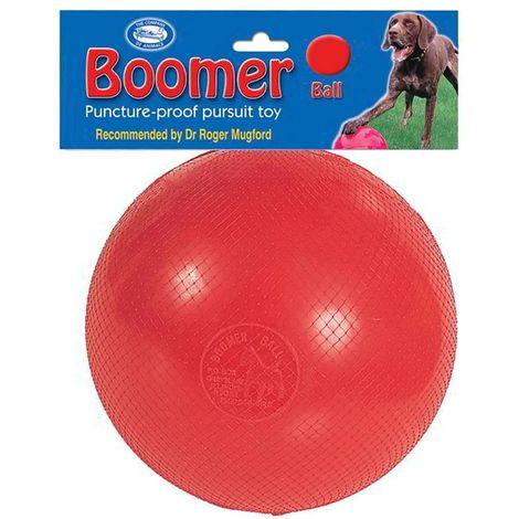 Company Of Animals Boomer Ball Dog Toy (4in) (Red)
