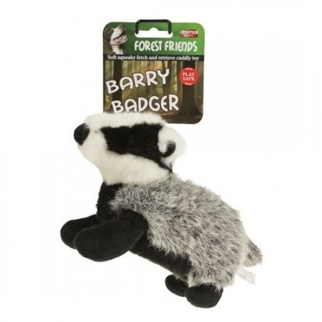 Animal Instincts Forest Friends Dog Plush Toy (Small) (Barry Badger)