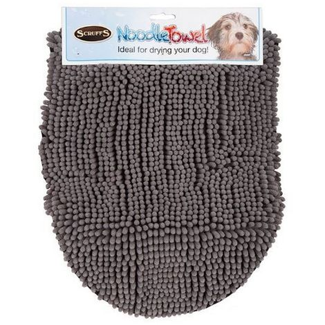 Scruffs Noodle Dog Drying Towel (One Size) (Grey)