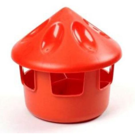 Supa Feed/Grit Station (One Size) (Red)