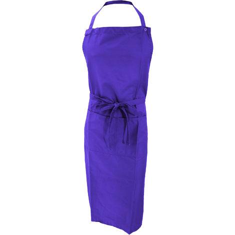 Jassz Bistro Unisex Bib Apron With Pocket / Barwear (One Size) (Purple)