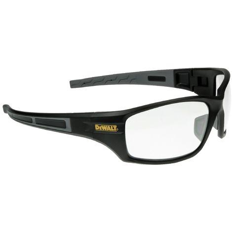 Dewalt Auger Safety Eyewear (One Size) (Black/Clear)