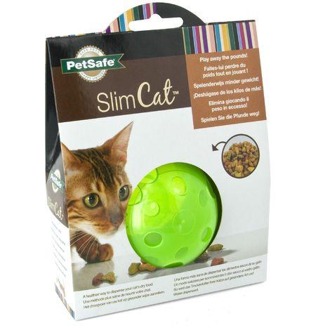 Petsafe Slimcat Cat Treat Ball (One size) (Green)
