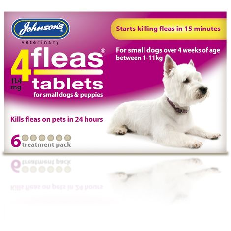 Johnsons Veterinary 4Fleas Tablets For Puppies & Small Dogs (3 Tablets) (N/A)
