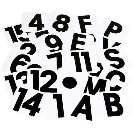 Stubbs Self Adhesive Label Letters (K) (Black/White)