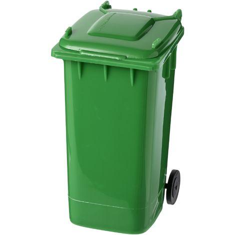 Bullet Wheelie Bin/Garbage Can Pen Holder (9.4 x 12.8 x 7.2cm) (Green)