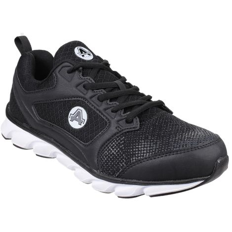 Amblers Safety Mens AS707 Lightweight Non-Leather Safety Trainer (9 UK) (Black)