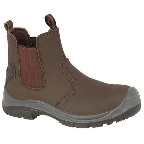 Grafters Steel Toe Safety Dealer Boots (8 UK) (Brown)
