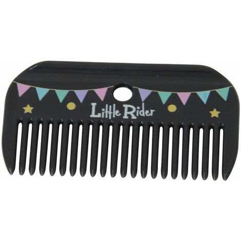 Little Rider Merry Go Round Horse Mane and Tail Comb (9.5cm x 5.3cm) (Grey/Pink)