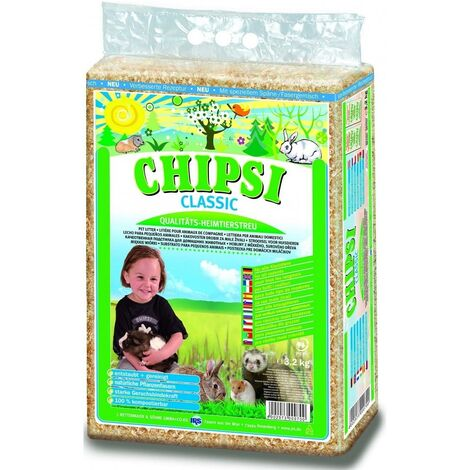 Chipsi Classic Small Pet Wood Shavings (1kg) (Beige)