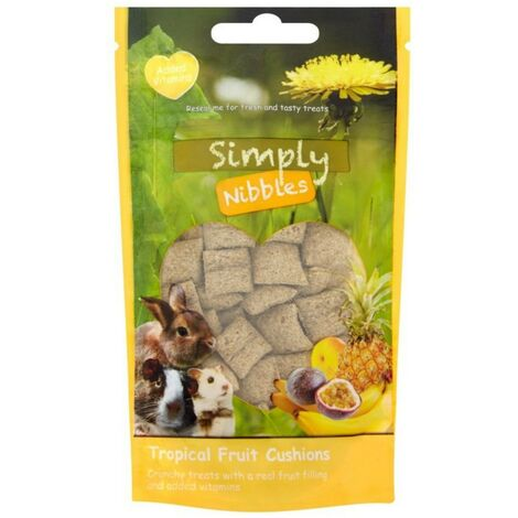 Rosewood Tropical Fruit Small Pet Treat (50g) (Green/Yellow)