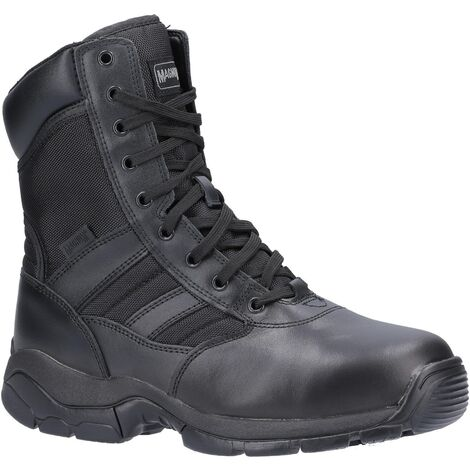 Magnum Panther 8.0 Mens Leather Steel Toe Safety Boots (7 UK) (Black)