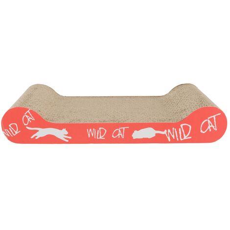 Trixie Cardboard Cat Scratch Pad (41cm x 7cm x 24cm) (Coral)