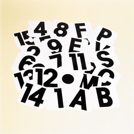 Stubbs 1 Self-Adhesive Label (One Size) (White/Black)