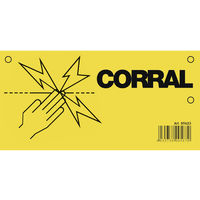 Corral Electric Fence Warning Sign (20 x 10cm) (May Vary)