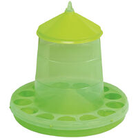Gaun Plastic Poultry Feeder With Legs (4kg) (Green)