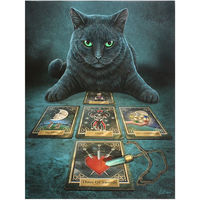 Lisa Parker The Reader Black Cat Canvas (One Size) (Multicoloured)
