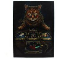 Lisa Parker The Reader Tabby Cat Canvas (Small) (Multicoloured)