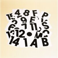 Stubbs Self Adhesive Letter Labels (S) (White/Black)