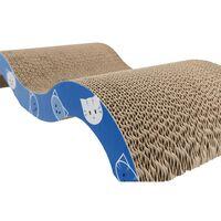 Trixie Mimi Wave Cardboard Cat Scratch Pad (50cm x 9cm x 23cm) (Blue)