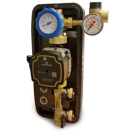 """Groupe de pompage solaire monovoie 3/4"""" M, débitmètre 2-12 l/min"""
