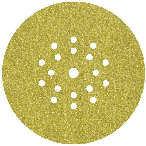 WOLFCRAFT 5635000 - Discos adhesivos de lijar grano 180 perforadas para lijadores de plafones y pared diam 225 mm