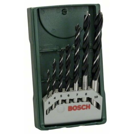 Bosch 2607019580 Set bricolaje 7 brocas para madera mini X-line