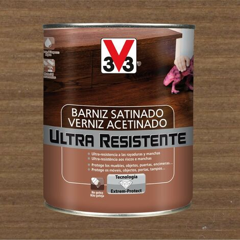 V33 056652 - Barniz interior Ultra Resistente color nogal acabado satinado 750 ml
