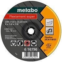 Metabo 616796000 Disco de desbaste amoladora angular Flexiamant Super ZA24-T para tubería 230x4x22,23 mm (Envase 10 Ud)
