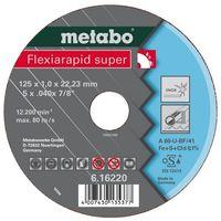 Metabo 616216000 Disco de tronzar plano amoladora angular Flexiarapid Super A60-U para inoxidable 115x1x22,23 mm (Envase 25 Ud)