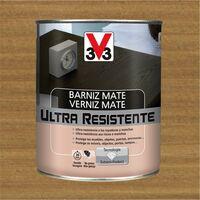 V33 056838 - Barniz interior Ultra Resistente color roble oscuro acabado mate 750 ml