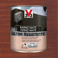 V33 056850 - Barniz interior Ultra Resistente color caoba acabado mate 750 ml