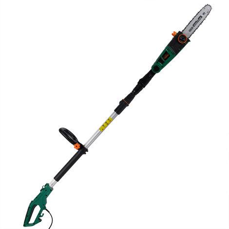 Gardebruk Motosierra eléctrica de 750 W longitud de corte de 26 cm Aluminio cadena calidad Oregon velocidad 9 m/s jardinería