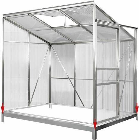 Deuba Base para invernadero de acero galvanizado Cimiento Basamento sólido Estructura estable varios tamaños y modelos  M5: 190x122x11cm (de)