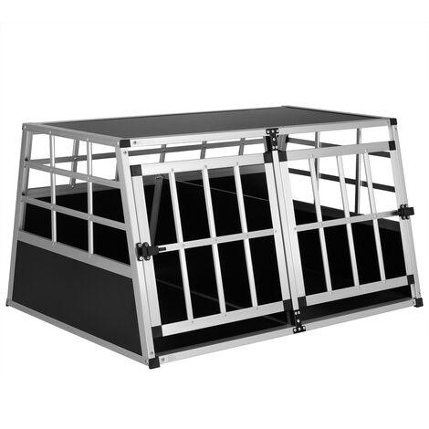 Cadoca Transportín para perros y mascotas jaula de transporte viaje de aluminio - tamaño a escoger   Transportín para perros XL