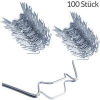 Deuba Set de 100 clips de sujeción para invernaderos de metal inoxidable