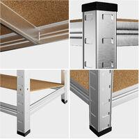 Deuba Estanteria metalica para cargas pesadas Repisa de taller estantes de MDF - Modelo a elección 4 Estantes - 170x75x30cm