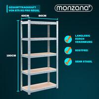 Deuba Estanteria metalica para cargas pesadas Repisa de taller estantes de MDF - Modelo a elección 5 estantes - 180x90x40cm