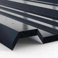 Deuba Set de 12 chapas perfiladas Gris 7m² 129x45cm c/u Láminas de metal galvanizado para techo