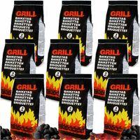 Deuba 27 kg de carbón vegetal para barbacoa Briquetas de carbón Brasas bajas en chispas