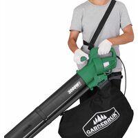 Monzana 3en1 soplador aspirador y trituradora de jardín máx 3000W para hojas papeles ramas