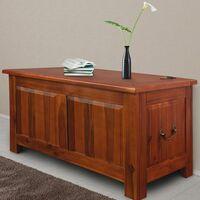 Deuba Baúl de madera de acacia maciza Mueble rústico Arcón Cofre 85x44x48cm