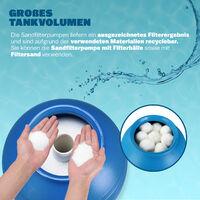 Monzana Depuradora 11.000 l/h bomba de filtro de arena con válvula tanque XXL 550W Volumen 30L para piscina