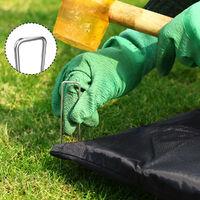 Gardebruk Grapas de sujeción de Acero galvanizado clavijas para pabellones suelo tierra Ø2,7 mm 15x2,5cm Set de 50