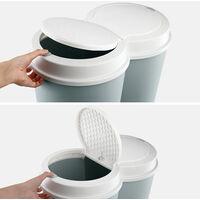 Deuba Pattumiera doppia 50L raccolta diferenziata 2 x 25L cestino doppio casa cucina rifiuti colore a scelta Verde